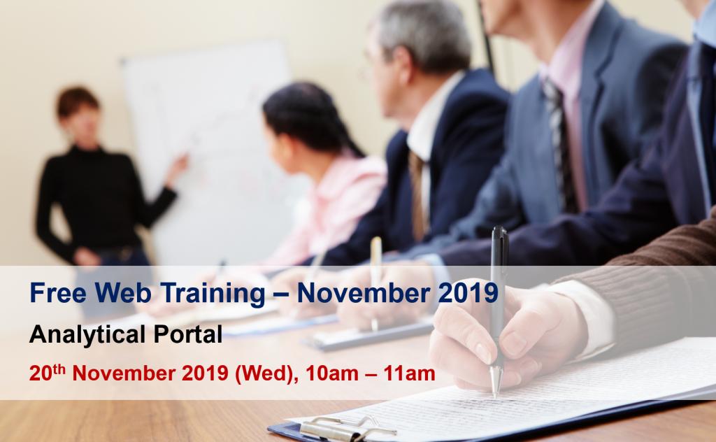 web training nov 2019
