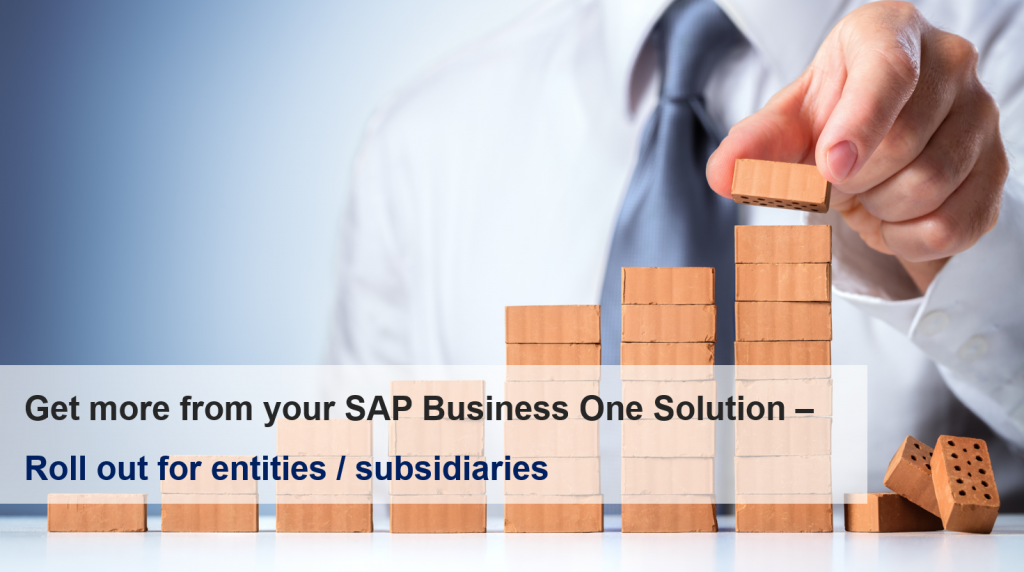 inecom roll out sap b1 to entities v4