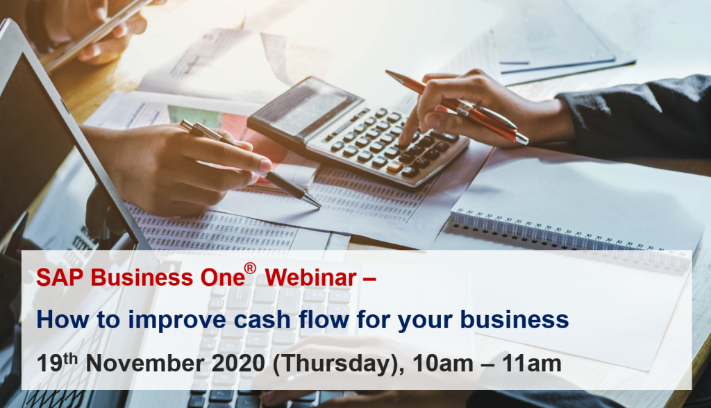 Webinar How To Improve Cash Flow For Your Business Inecom Specialist For Sap Business One Erp Software Sap Hana Cloud Hosting And It Infrastructure